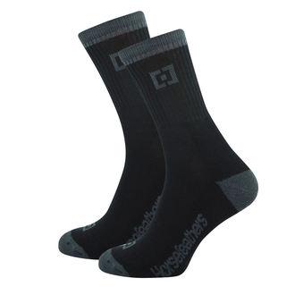 ponožky HORSEFEATHERS - JAYDEN - BLACK, HORSEFEATHERS