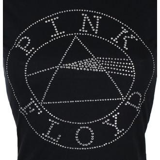 tričko dámské Pink Floyd - Circle Logo Diamante - Blk - ROCK OFF, ROCK OFF, Pink Floyd