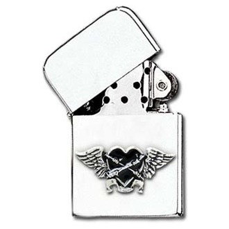 zapalovač Black Heart Petrol Lighter AAZ45 - Alchemy Gothic