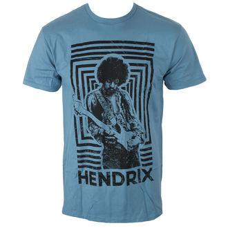 tričko pánské Jimi Hendrix - AUTHENTIC SQUARES BLUE - BRAVADO, BRAVADO, Jimi Hendrix