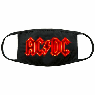 rouška (maska) AC/DC - Neon Logo - Black - ROCK OFF, ROCK OFF, AC-DC
