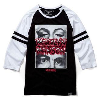 tričko unisex s 3/4 rukávem KILLSTAR - MARILYN MANSON - American Conspiracy - Black - K-TOP-U-2508