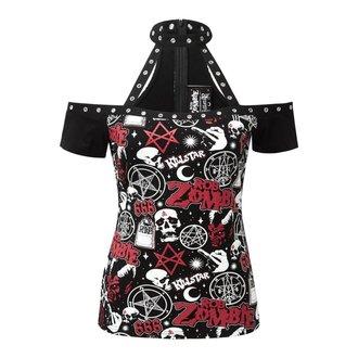 tričko dámské KILLSTAR - ROB ZOMBIE - American Nightmare Choker - BLACK - KSRA000729