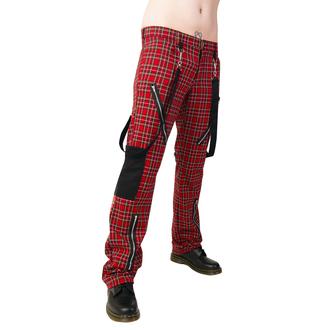 kalhoty Black Pistol - Punk Pants Tartan Red-Green - B-1-01-060-04