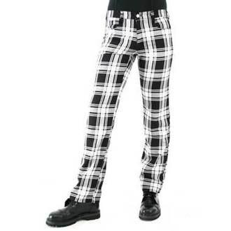 kalhoty pánské Black Pistol - Tartan Pants Black-white, BLACK PISTOL
