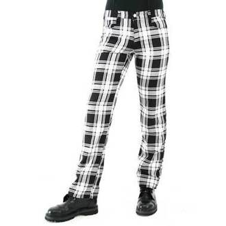 kalhoty pánské Black Pistol - Tartan Pants Black-white - B-1-05-060-01