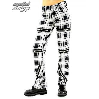 kalhoty dámské Black Pistol - Destroy Pants Tartan (Black/White) - B-1-20-060-01