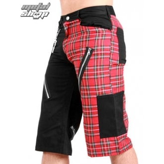 kraťasy pánské Black Pistol - Tartan Short Pants Black/Red