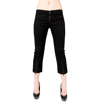 kraťasy 3/4 dámské Black Pistol - Zip Slacks Denim Black, BLACK PISTOL