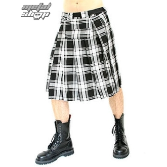 kilt Black Pistol - Short Kilt Tartan Black-White - B-2-10-060-01