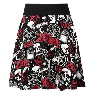 sukně dámská KILLSTAR - ROB ZOMBIE - Baby Death Skater - BLACK - KSRA000730