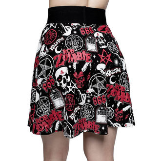 sukně dámská KILLSTAR - ROB ZOMBIE - Baby Death Skater - BLACK, KILLSTAR, Rob Zombie