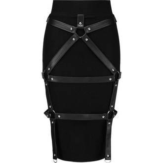 sukně dámská KILLSTAR - Bad Bonds - BLACK - KSRA000278