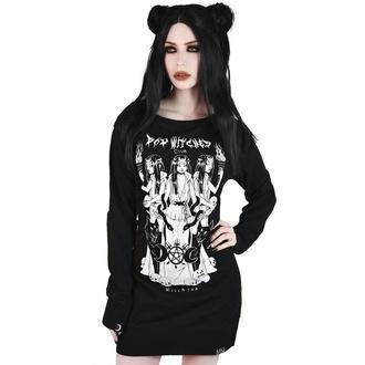 šaty dámské KILLSTAR - Bad Witches Club Sweater - BLACK - KSRA001585