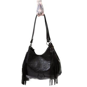 kabelka (taška) KILLSTAR - BELLADONNA FRINGE - BLACK, KILLSTAR