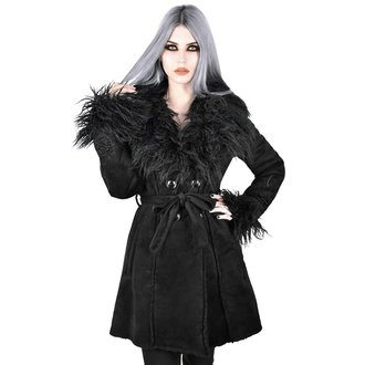 kabát dámský KILLSTAR - Belladonna Shearling - BLACK, KILLSTAR