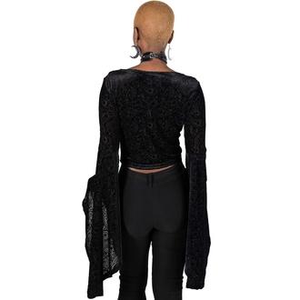 tričko dámské s dlouhým rukávem KILLSTAR - Betty Sage Velvet - Black, KILLSTAR