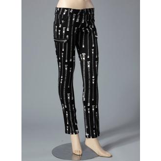 kalhoty dámské HELL BUNNY - Zipper Skinny Jeans (White)