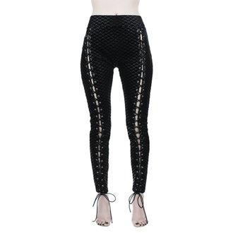 kalhoty dámské (legíny) KILLSTAR - Black Sea Lace-Up - BLACK, KILLSTAR