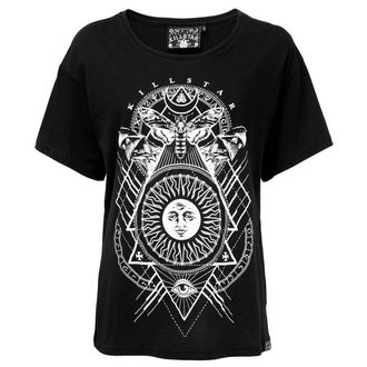 tričko dámské KILLSTAR - BLACK SUN RELAXED - BLACK, KILLSTAR