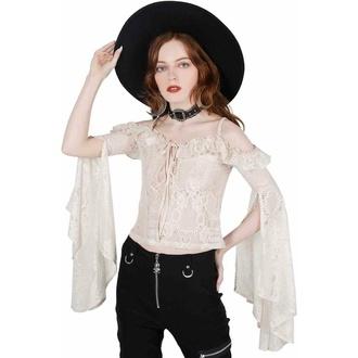 tričko dámské s dlouhým rukávem (top) KILLSTAR - Breathless Lace Bardot - IVORY, KILLSTAR