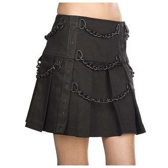 sukně dámská Black Pistol - Chain Denim - Black, BLACK PISTOL