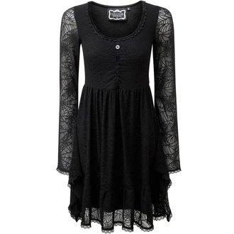 šaty dámské  KILLSTAR - CASKET CUTIE WEB - BLACK