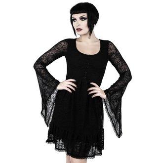 šaty dámské  KILLSTAR - CASKET CUTIE WEB - BLACK, KILLSTAR