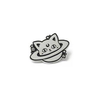 připínáček KILLSTAR - CAT PLANET - BLACK - K-PIN-U-3040