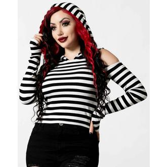 tričko dámské s dlouhým rukávem KILLSTAR - Cause Of Death Knit - Black/White - KSRA004128