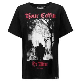 tričko (unisex) KILLSTAR - Coffin Relaxed - BLACK