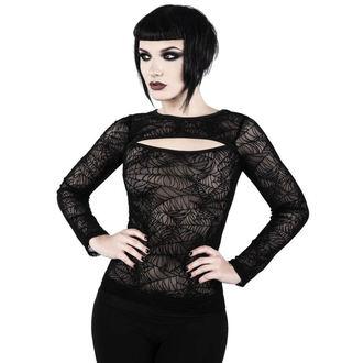 tričko dámské s dlouhým rukávem KILLSTAR - CREEPED OUT - BLACK, KILLSTAR
