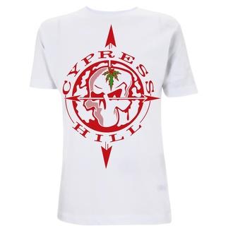 tričko pánské Cypress Hill - Skull Compass - White, NNM, Cypress Hill