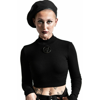 tričko dámské s dlouhým rukávem KILLSTAR - Darkest Hour Ribbed - Black, KILLSTAR