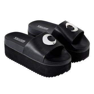 boty dámské (sandály) KILLSTAR - DARK MOON SLIDES - BLACK, KILLSTAR