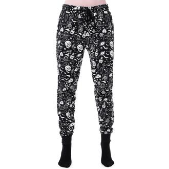 kalhoty dámské (pyžamo) KILLSTAR - Dark Slumbers - BLACK - KSRA001905