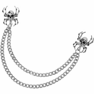 připináček KILLSTAR - Deadly Collar - Silver, KILLSTAR