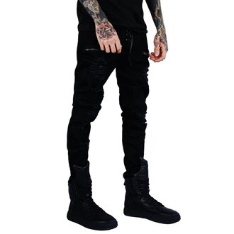 kalhoty (unisex) KILLSTAR - Diablo Jeans - BLACK, KILLSTAR