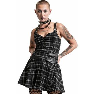 šaty dámské KILLSTAR - Distortion Pleated - ASH TARTAN, KILLSTAR