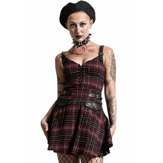 šaty dámské KILLSTAR - Distortion Pleated - BLOOD TARTAN, KILLSTAR