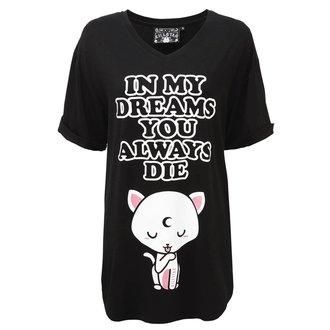 pyžamo dámské (noční košile) KILLSTAR - DREAMS - BLACK, KILLSTAR