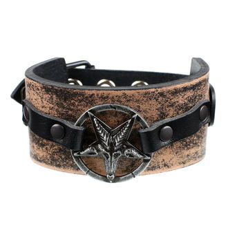 náramek Baphomet - brown, JM LEATHER