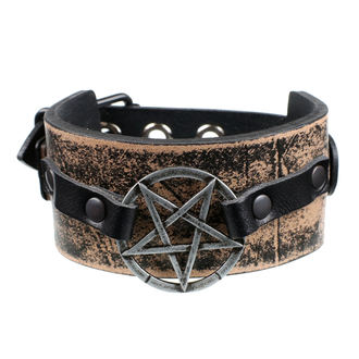 náramek Pentagram - brown, JM LEATHER