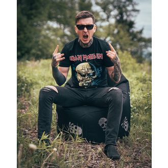 tričko pánské Iron Maiden - Piece of Mind Skull - ROCK OFF, ROCK OFF, Iron Maiden