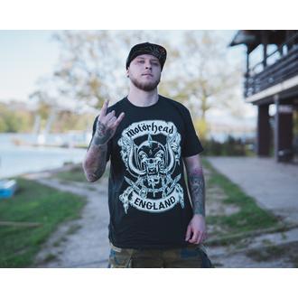 tričko pánské Motörhead - Crosses Sword England - Black - ROCK OFF, ROCK OFF, Motörhead