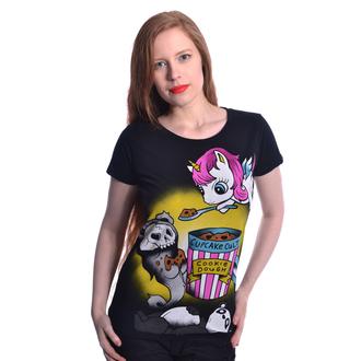 tričko dámské Cupcake Cult - COOKIE BEAR - BLACK, CUPCAKE CULT