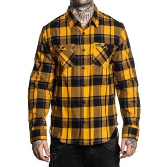 košile pánská SULLEN - HONEY SUCKLE - MUSTARD/BLACK/GREY, SULLEN