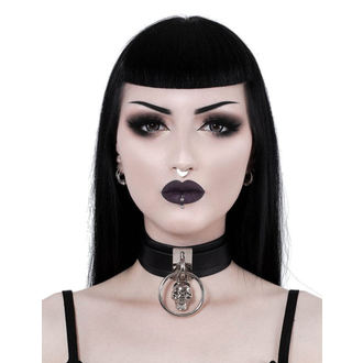 obojek KILLSTAR - Elena Skull - BLACK, KILLSTAR