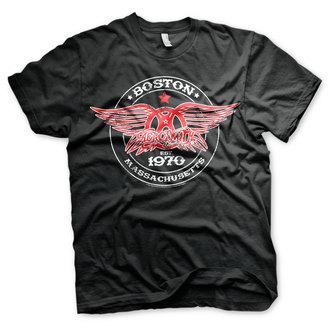 tričko pánské Aerosmith - Est. 1970, Boston - Black - HYBRIS, HYBRIS, Aerosmith