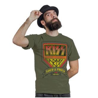 tričko pánské KISS - ARMY Distressed Logo - HYBRIS, HYBRIS, Kiss
